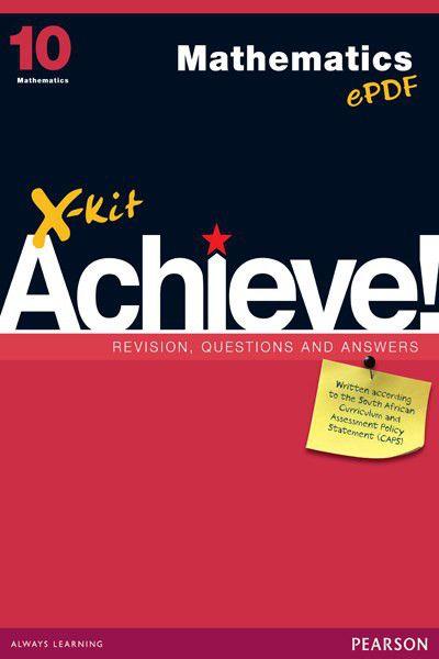 x kit achieve caps mathematics grade 10 study guide buy online in rh takealot com mathematics study guide grade 10 caps Act Sat Study Guide