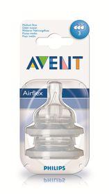 Avent - Teat Silicone Medium Flow 2 Units