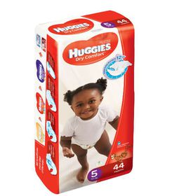Huggies - Dry Comfort - Size 5 x 44 Nappies (15+kg)