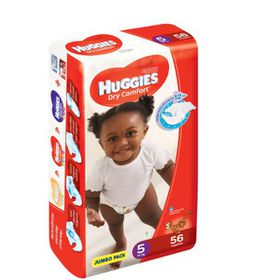 Huggies - Dry Comfort - Size 5 Junior 56 Jumbo Pack