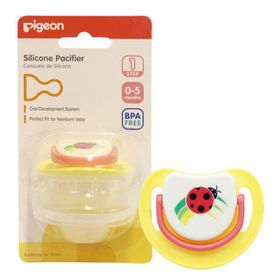 Pigeon - Silicone Pacifier Step 1 Ladybird
