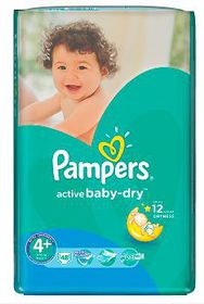Pampers - Active Baby 48 Nappies - Size 4+ Value Pack