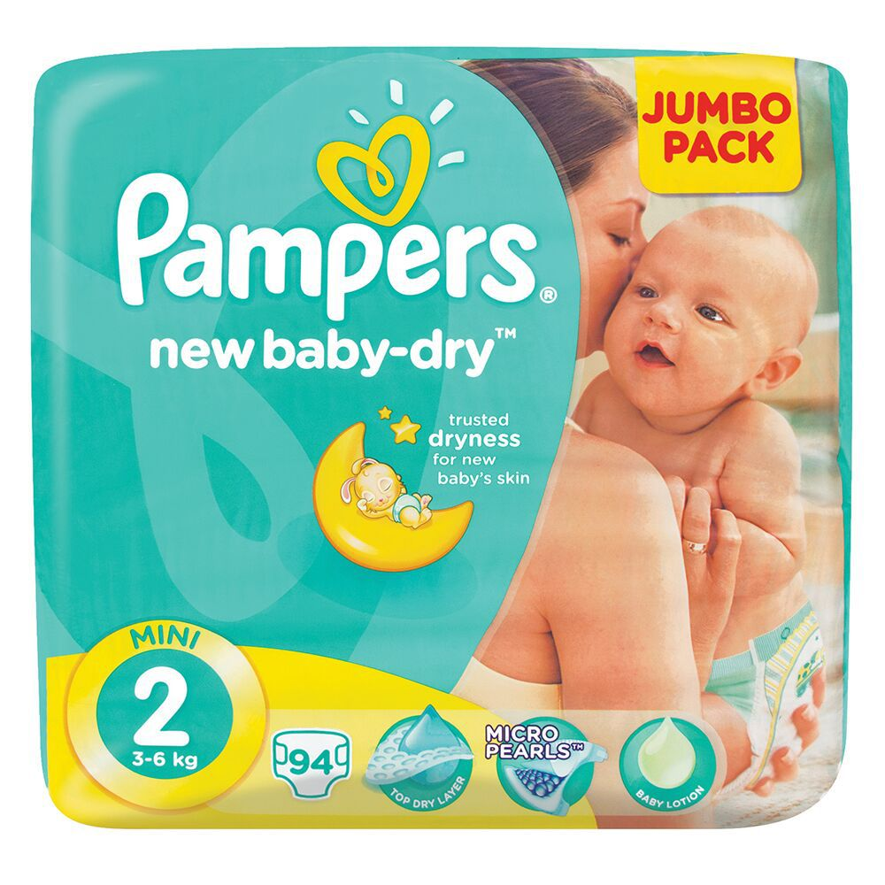 Pampers New Baby 94 Nappies Size 2 Jumbo Pack Buy