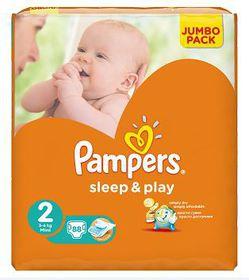 Pampers - Sleep & Play 88 Nappies - Size 2 Jumbo Pack