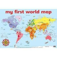 My first world map wall chart buy online in south africa my first world map wall chart gumiabroncs Choice Image