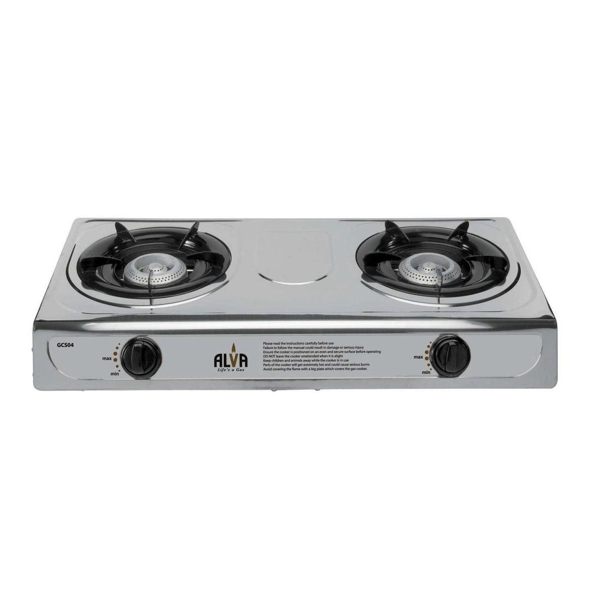alva stainless steel gas stove 2 burner loading zoom