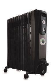 Delonghi - 12 Fin Oil Fin Heater - Black