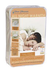 Pure Pleasure Fullfit Fleece Washable Electric Blanket - Double (137X 188Cm)