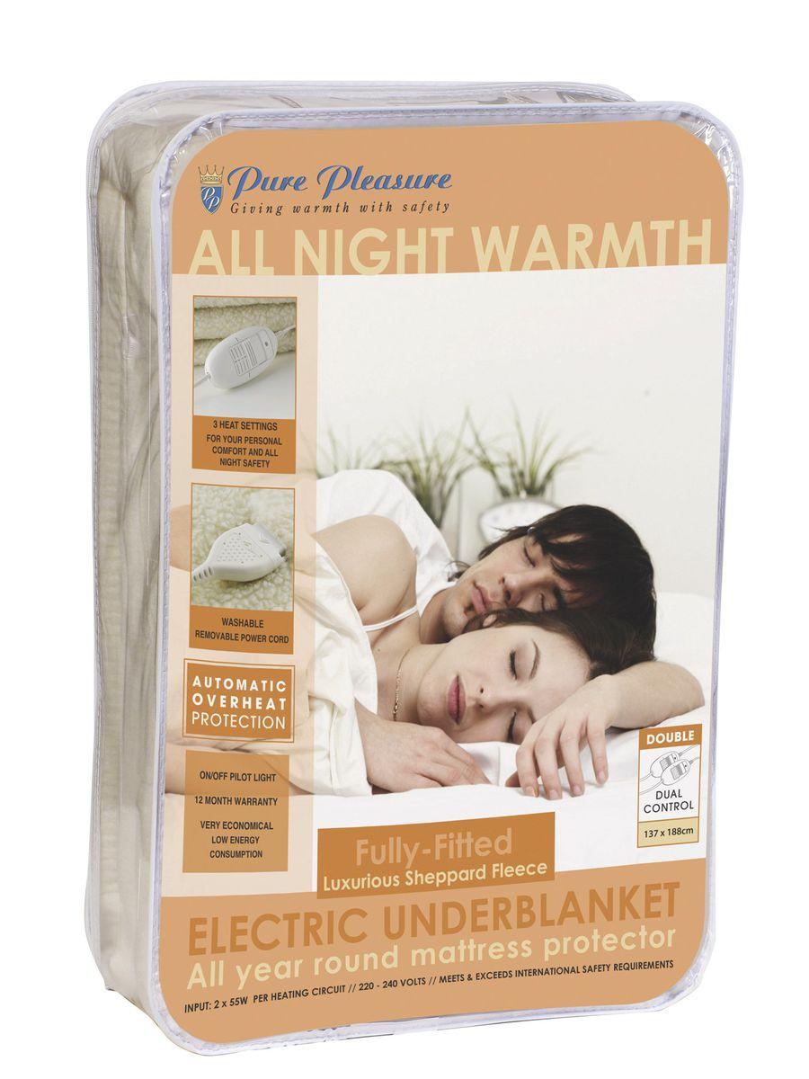 Pure Pleasure Fullfit Fleece Washable Electric Blanket - Double (137X  188Cm) ...