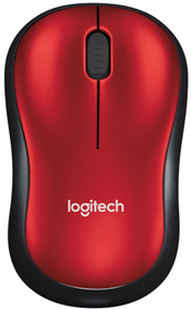 Logitech M185 Wireless Mouse - Red