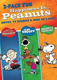 Happiness is Peanuts:3 Pack of Fun - (Region 1 Import DVD)
