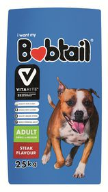 Bobtail - Natures Best Dry Dog Food - Steak - 25kg