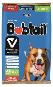 Bobtail - Natures Best Small to Medium Breed Adult Steak - Dog Dry Food - 8kg