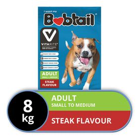 Bobtail - Dry Dog Food -Small To Medium - Steak Flavor - 8kg