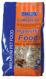 Marltons - Hamster Food With Fruit and Veg - 800g