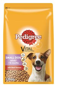 Pedigree - Small Breed - Tender Beef Dry Dog Food - 1.75kg