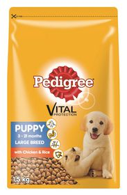Pedigree - Puppy Large To Giant Breed Chicken & Rice Dry Dog Food - 1.5kg