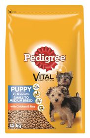 Pedigree - Puppy Small To Medium Breed - Chicken & Rice Dry Dog Food - 1.5kg