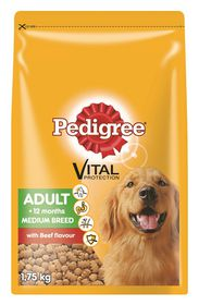 Pedigree - Adult Medium Breed Beef Dry Dog Food - 1.75kg