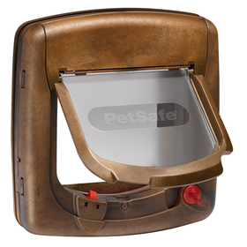 Staywell - Magnetic 4 Way Locking Deluxe Cat Flap 400 Series - Woodgrain