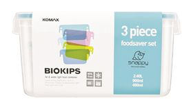 Snappy - Rectangular Promotional Food Storage Container Set - 3 Piece