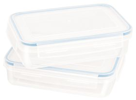 Snappy - 2 Piece 1.1 Litre Rectangular Promotional Food Storage Container Set
