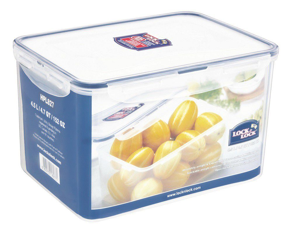 Lock And Lock   Rectangular Food Storage Container   4.5 Litre. Loading Zoom