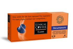 Ethical Coffee Company - Decaffeinato Coffee Capsules - Sleeve of 10