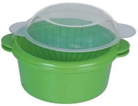 Progressive Kitchenware - Microwave Vegetable Steamer - Transparent