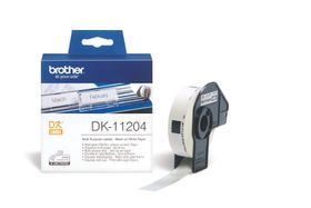 Brother DK-11204 Multi-Purpose Labels (17mm x 54mm) Roll - Black on White Paper
