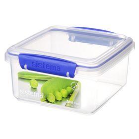 Sistema - Klip It - 1.2 Litre Lunch Plus Rectangular Food Storage Container