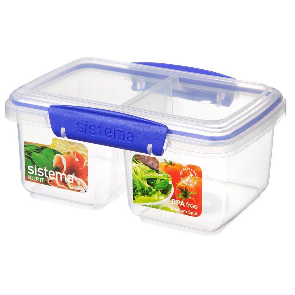 Sistema Klip It 1 Litre Split Rectangular Food Storage