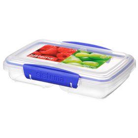 Sistema - Klip It - 350ml Split Rectangular Food Storage Container