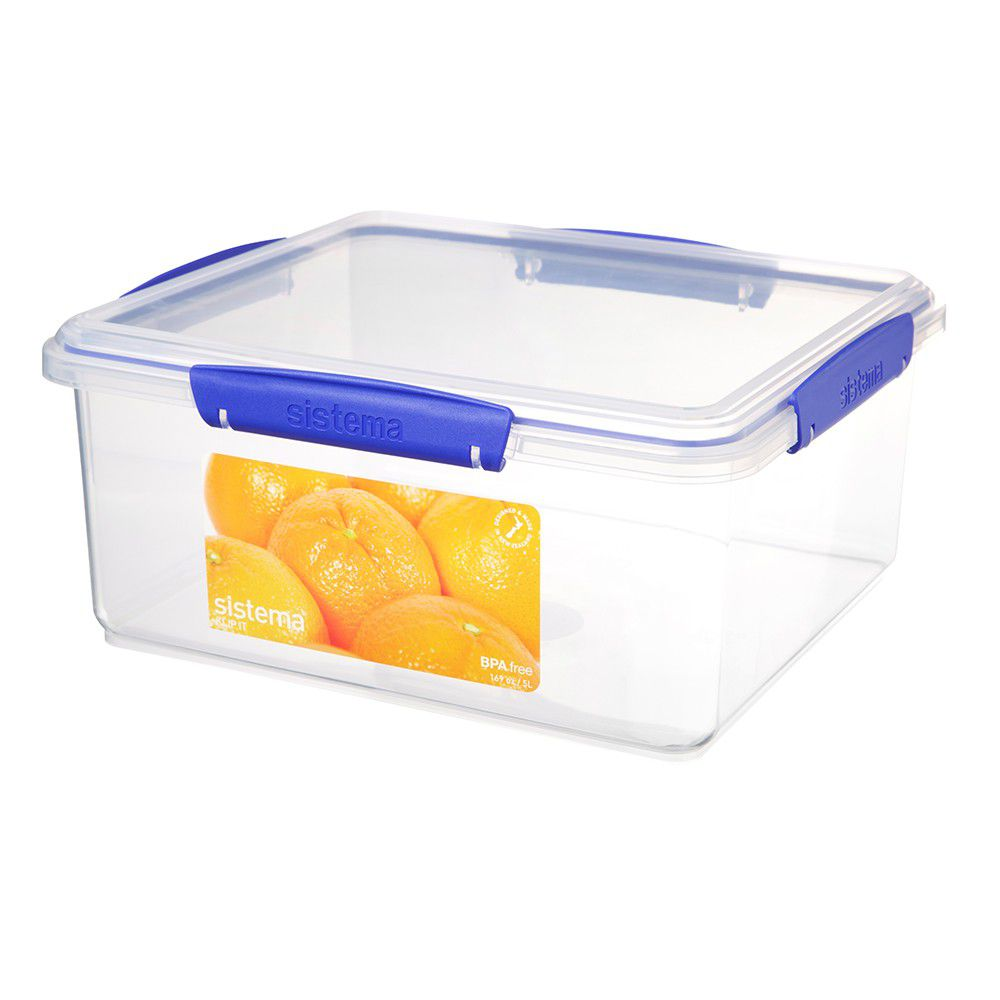 Sistema Klip It 5 Litre Rectangular Food Storage Container