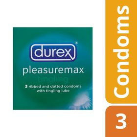 Durex Pleasuremax Tingling Condoms 3's