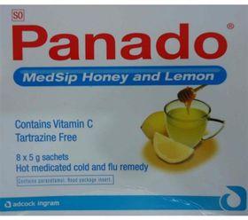 Panado Medsip Sachets 8 Honey Lemon 129