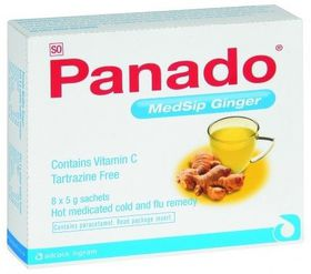 Panado Medsip Sachets 8 Ginger 210130