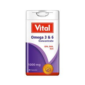 Vital Omega 3 & 6 Conc 1000mg 30