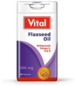 Vital Flaxseed Oil Capsules - 60 Capsules