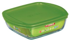 Pyrex - Storage Cook and Store Square Dish With Lid - 2.2 Litre