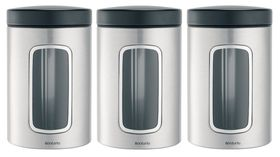 Brabantia - Window Canister Set - Brilliant Steel