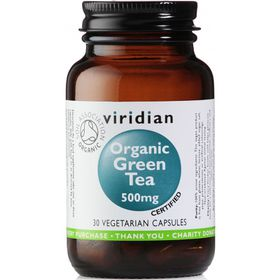 Viridian Organic Green Tea Leaf 500mg Vegetarian Capsules