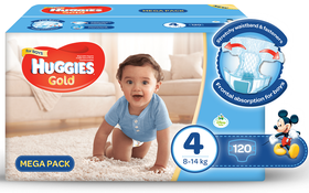 Huggies - Gold Boy - Size 4 - 120 Nappies