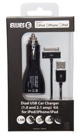Ellies iPod, iPhone & iPad Dual Car Charger Kit