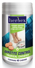 Herbex Appetite Control Chewies - 40 Tropical