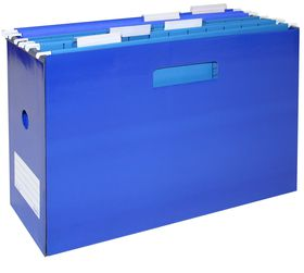 Bantex Portable Suspension File Box - Blue