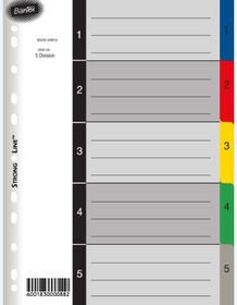 Bantex A4 5 (1-5) Division P.P File Dividers