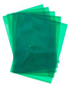 Bantex Polypropylene A4 Envelopes - Grass Green (Pack of 5)