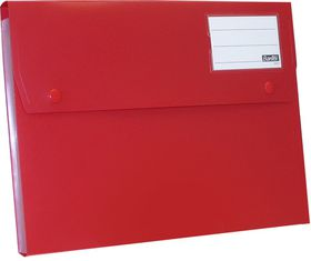 Bantex A4 P.P Expanding File - 6 Partitions - Red