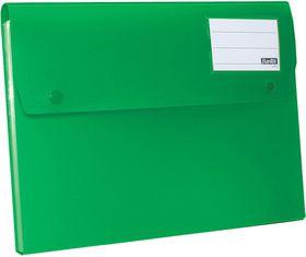 Bantex A4 P.P Expanding File - 6 Partitions - Grass Green